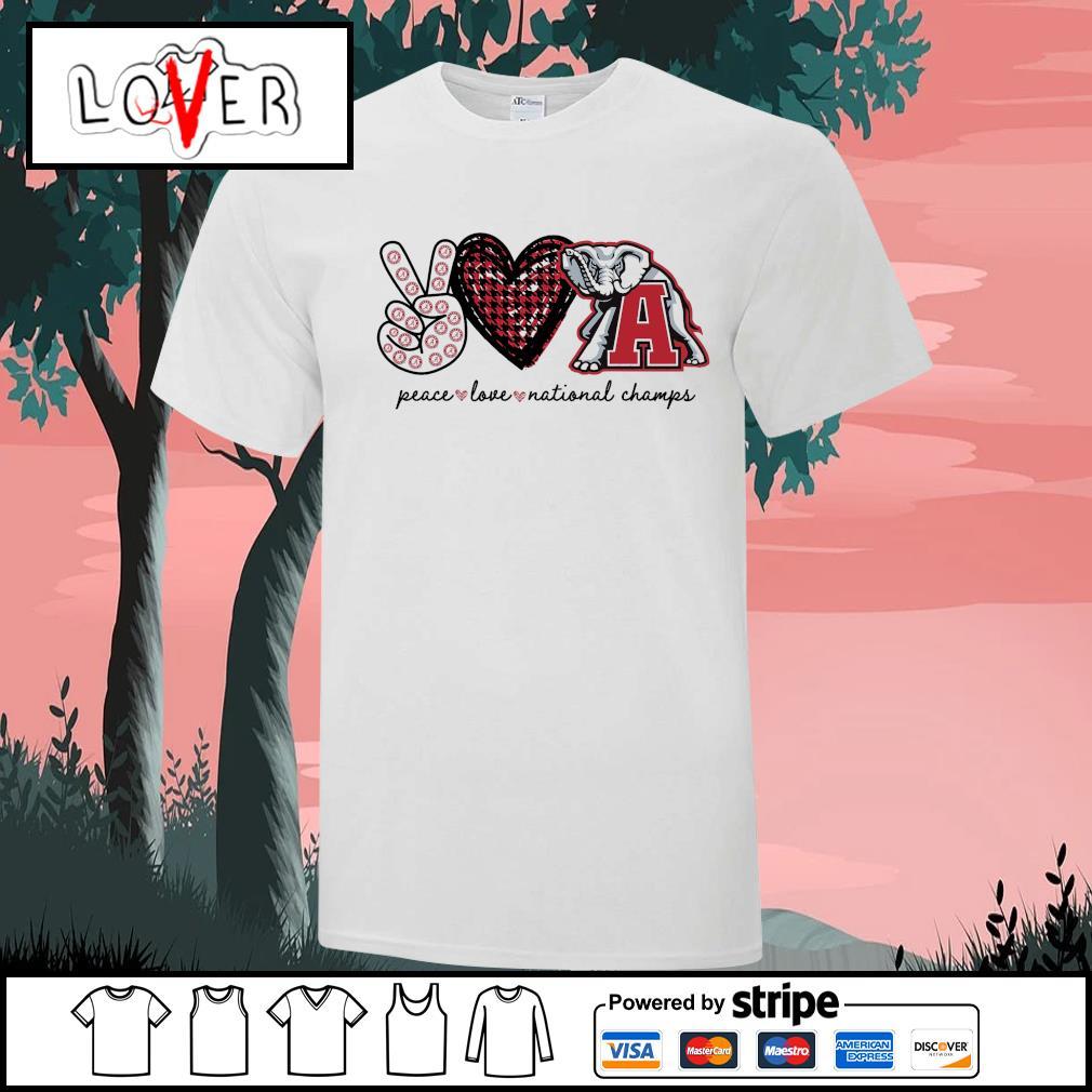 Peace love national champs Alabama Crimson Tide shirt