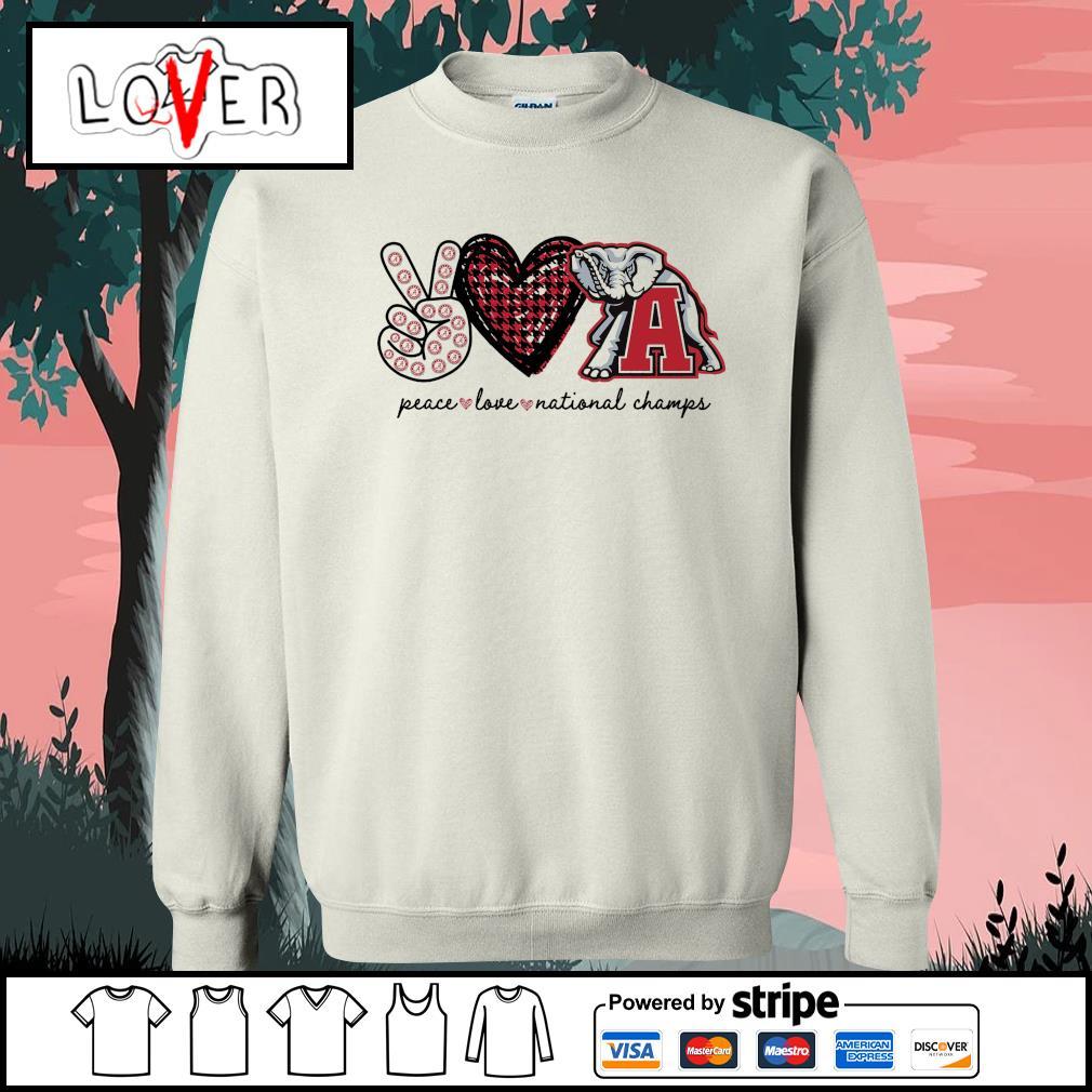Peace love national champs Alabama Crimson Tide s Sweater