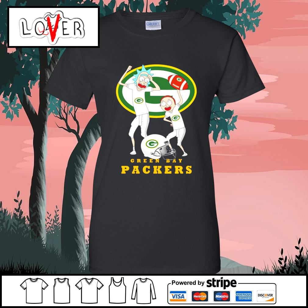 Rick and Morty love Green Bay Packers s Ladies-Tee