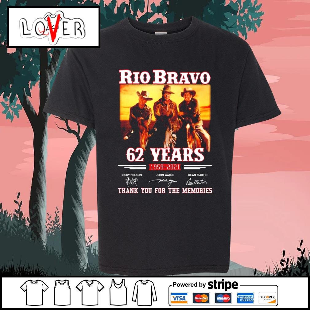 Rio Bravo 62 years 1959 2021 thank you for the memories signatures s Kid-T-shirt