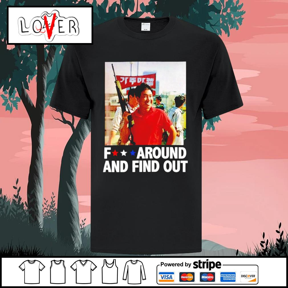 Rooftop Korean fuck around and find out shirt