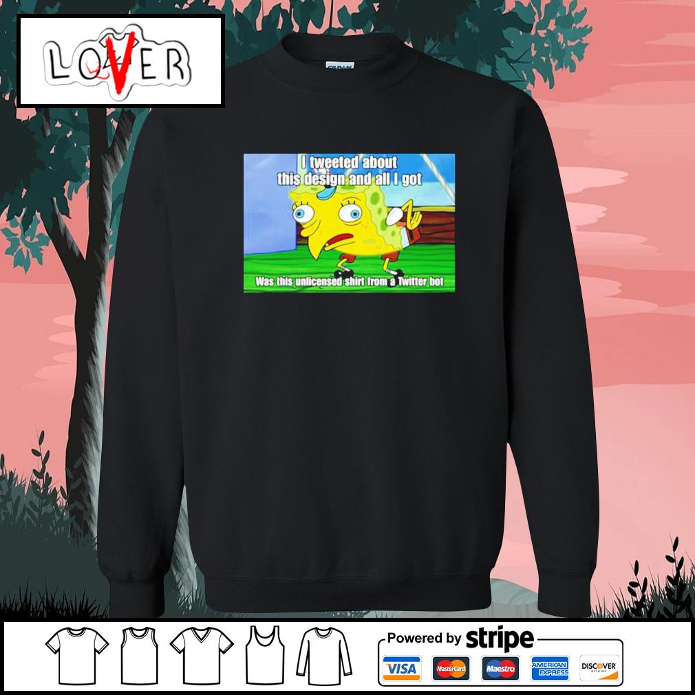 Spongebob I tweeted about this design and all I got s Sweater