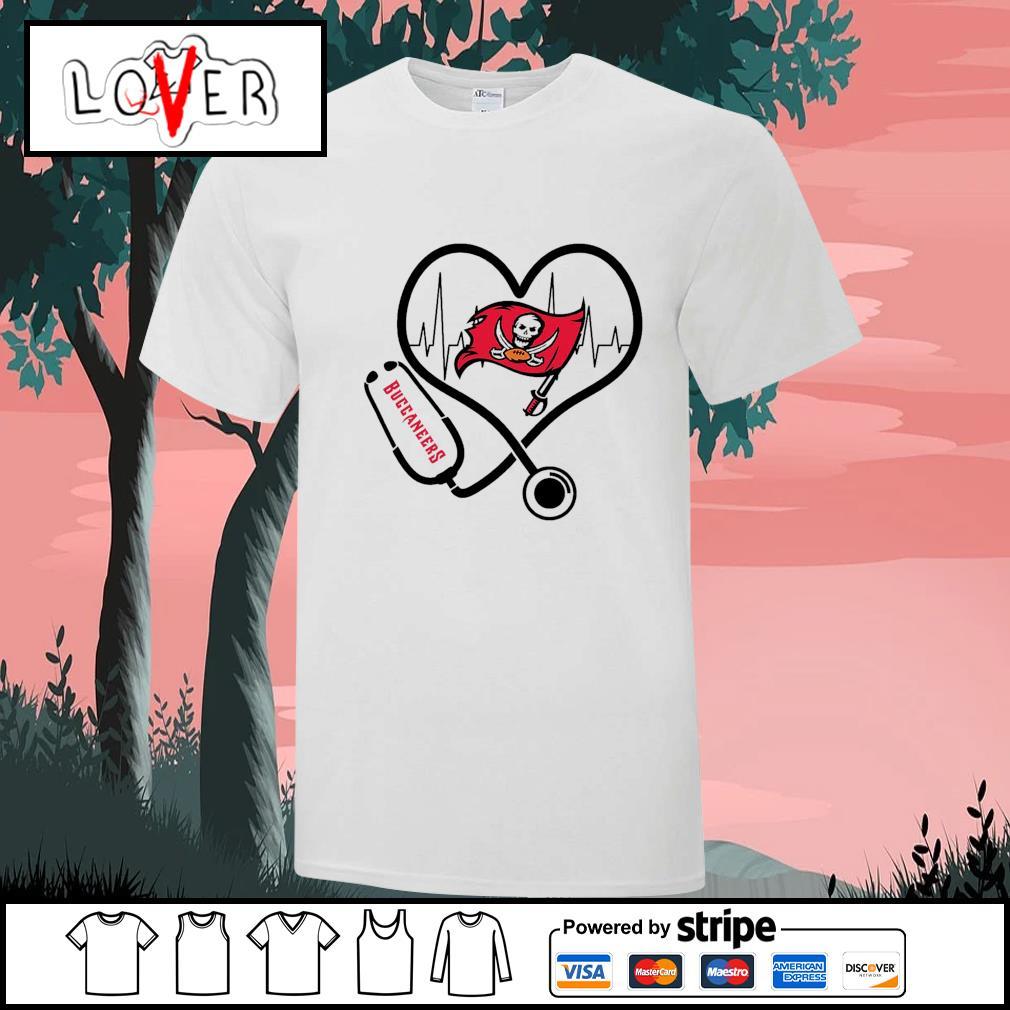 Stethoscope Heart Tampa Bay Buccaneers shirt