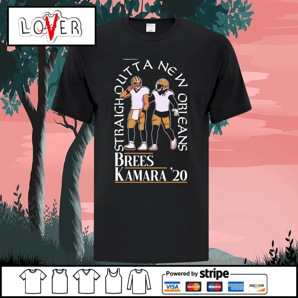Straight outta New Orleans Saints Brees Kamara 2020 shirt