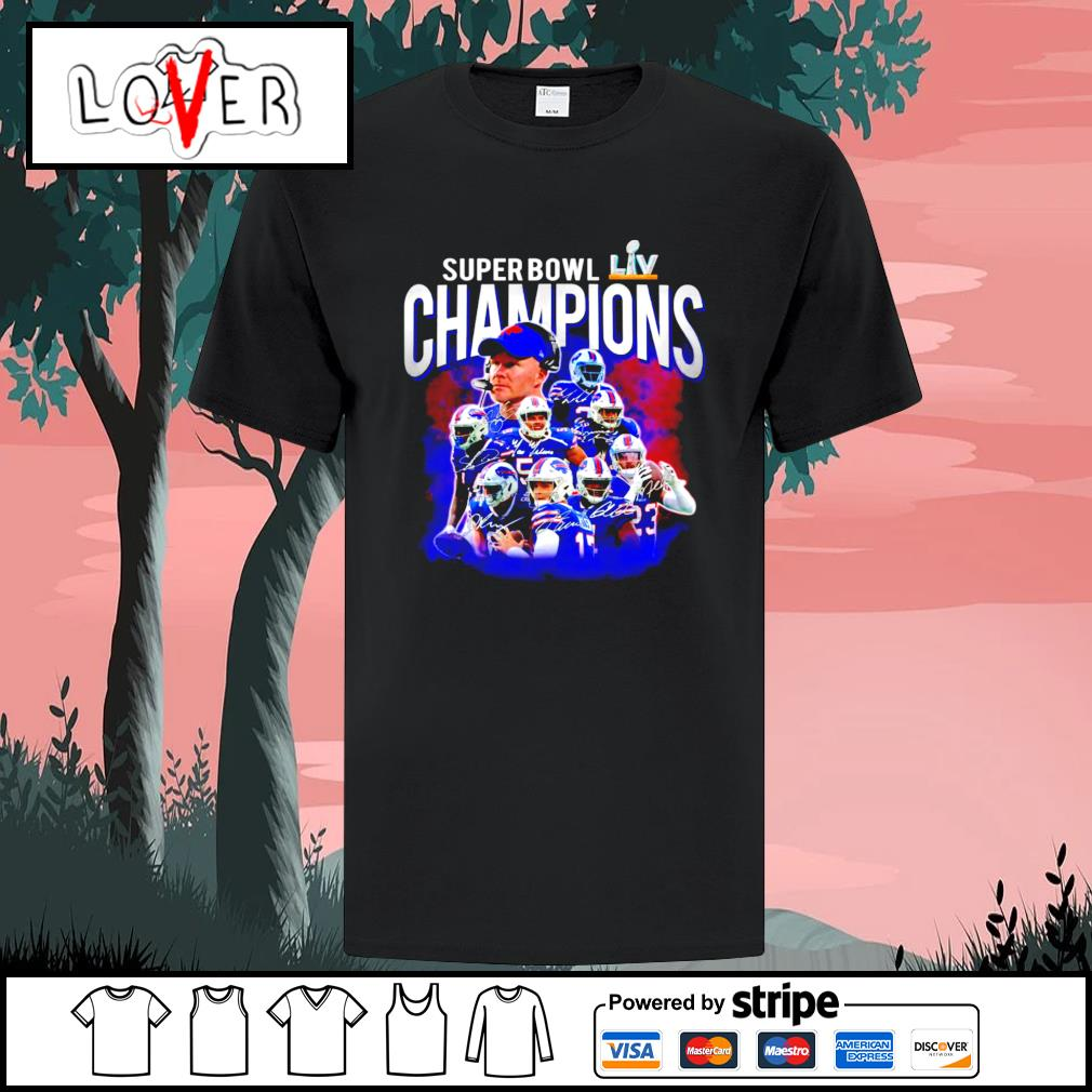 Super bowl champions 2021 Buffalo Bills signatures shirt