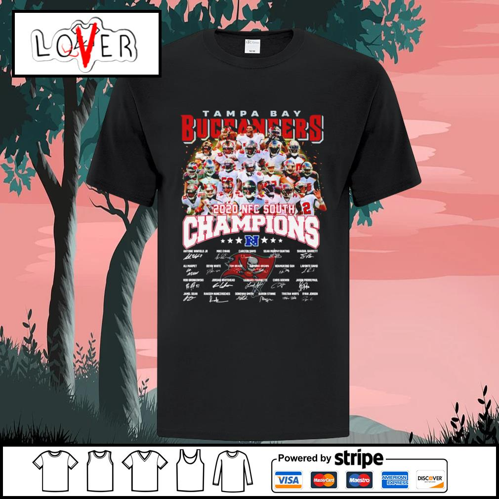 Tampa bay buccaneers 2020 NFC south champions signature shirt