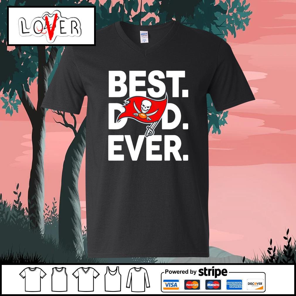 Tampa Bay Buccaneers best dad ever s V-neck-T-shirt