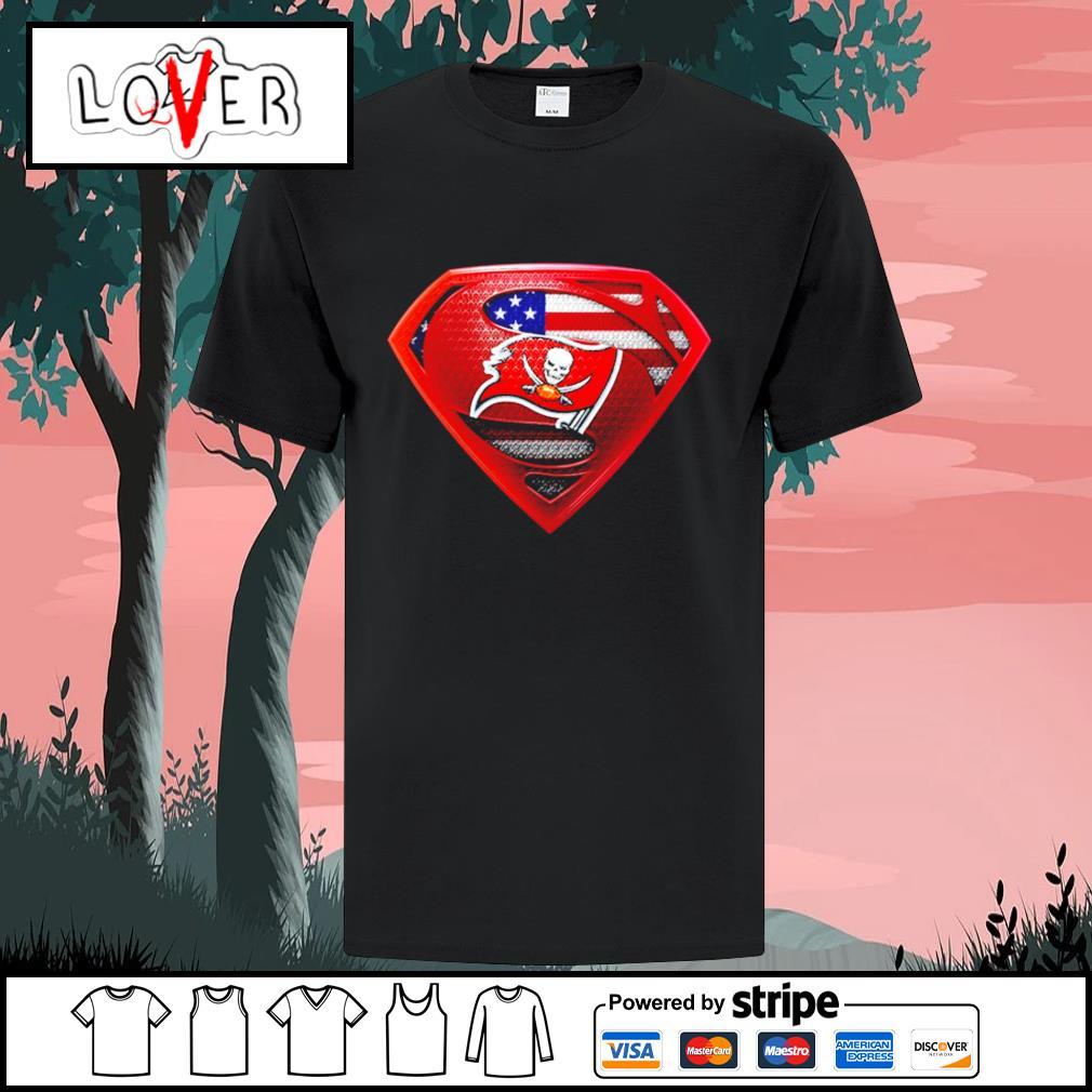Tampa Bay Buccaneers superman American flag shirt