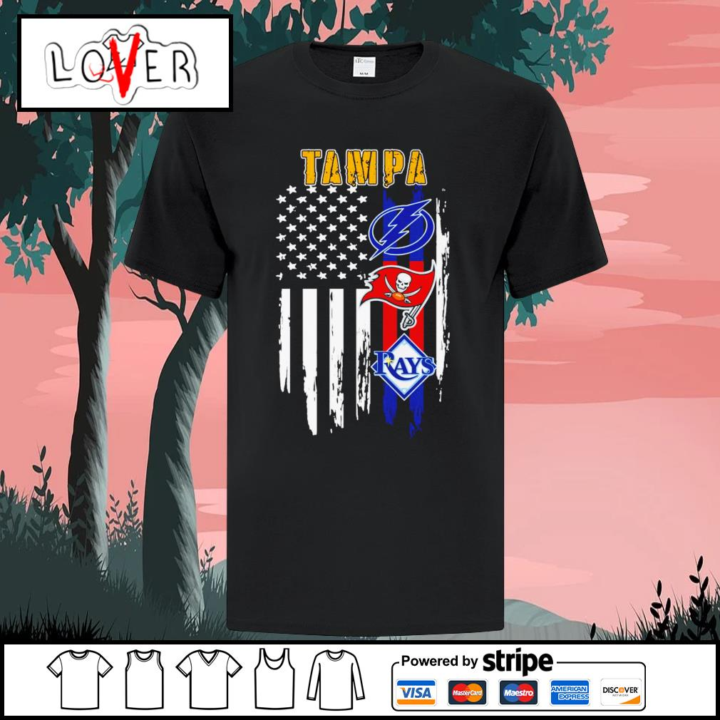Tampa Bay Lightning Tampa Bay Buccaneers and Tampa Bay Rays American shirt