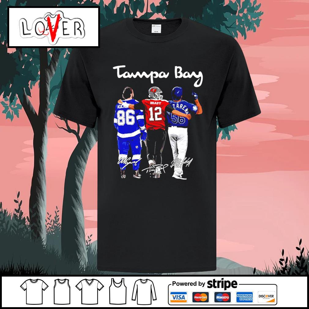 Tampa Bay Nikita Kucherov Tom Brady and Randy Arozarena signatures shirt