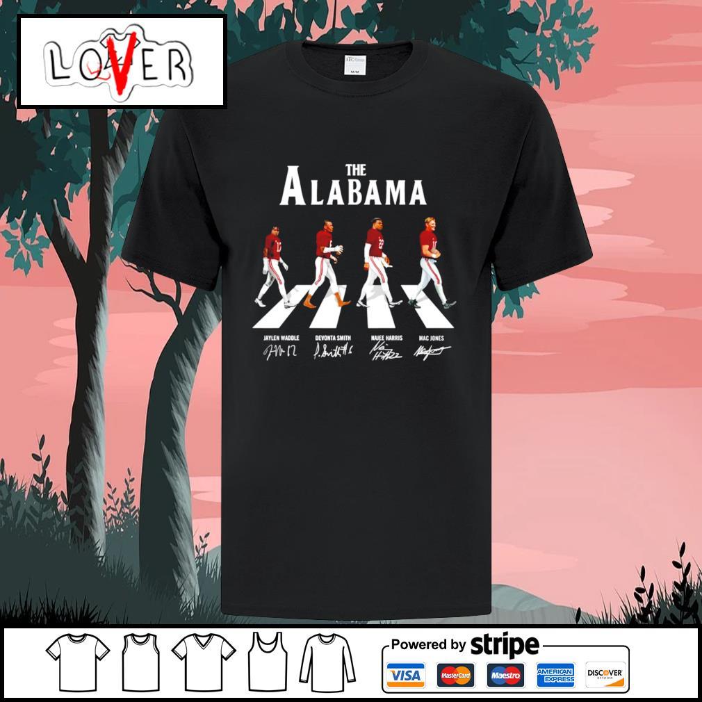 The Alabama Crimson Tide abbey road player signatures shirt