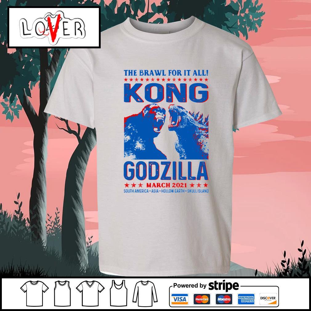 The brawl for it all Kong vs Godzilla march 2021 s Kid-T-shirt