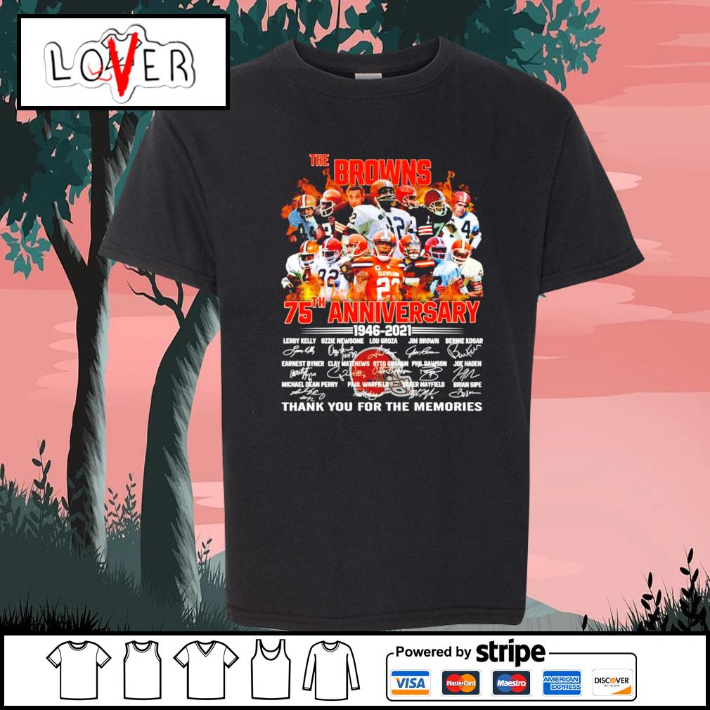 The Cleveland Browns 75th anniversary 1946 2021 signatures s Kid-T-shirt