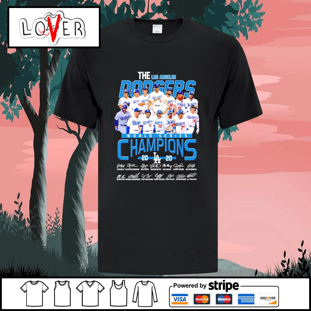 The Los Angeles Dodgers world series champions 2020 signatures shirt