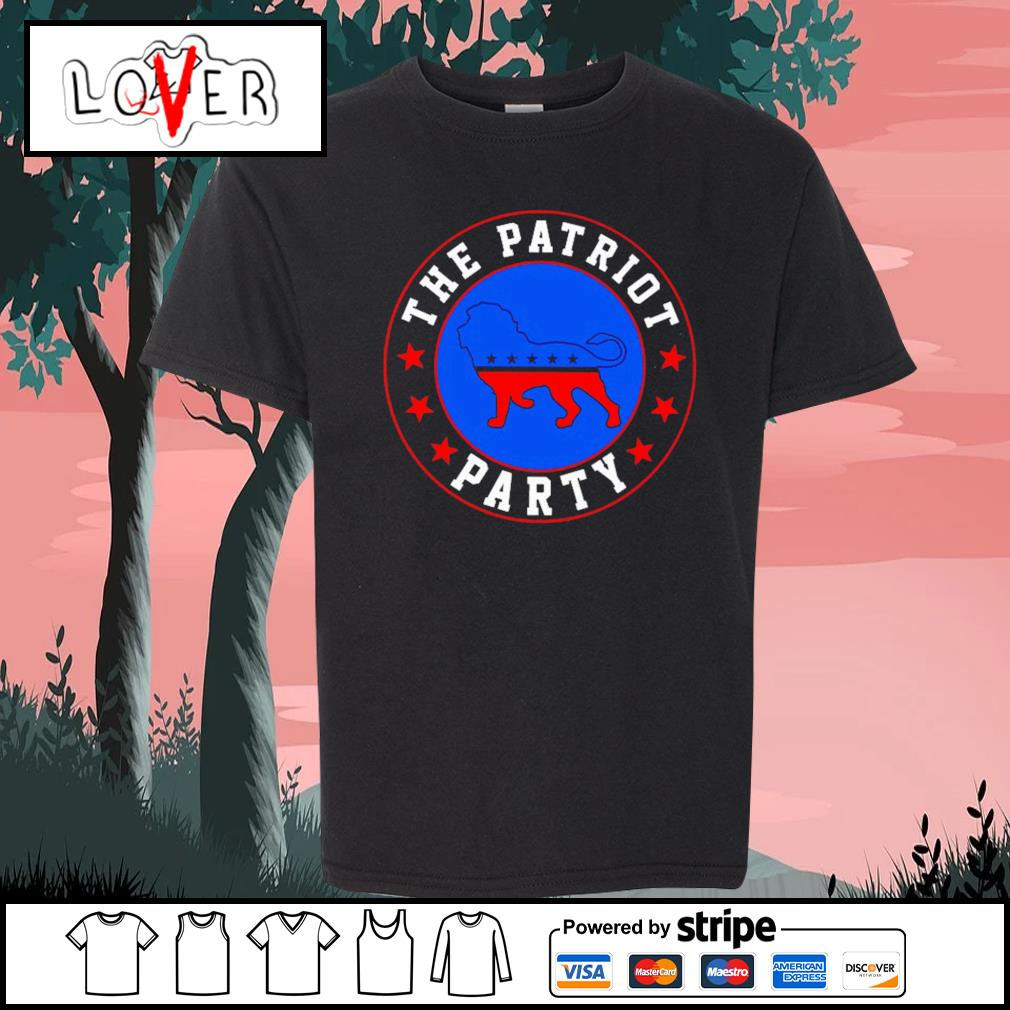 The patriot party lion America Trump s Kid-T-shirt