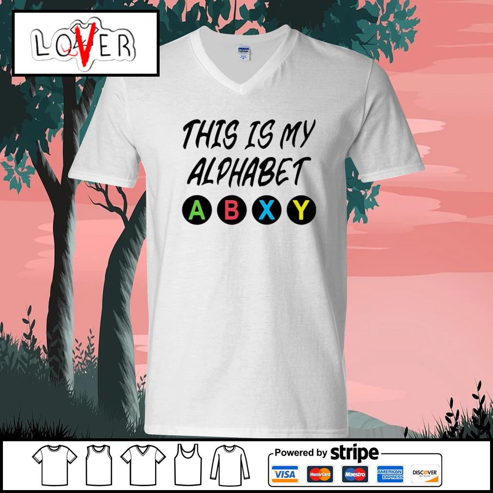 This is my alphabet abxy s V-neck-T-shirt