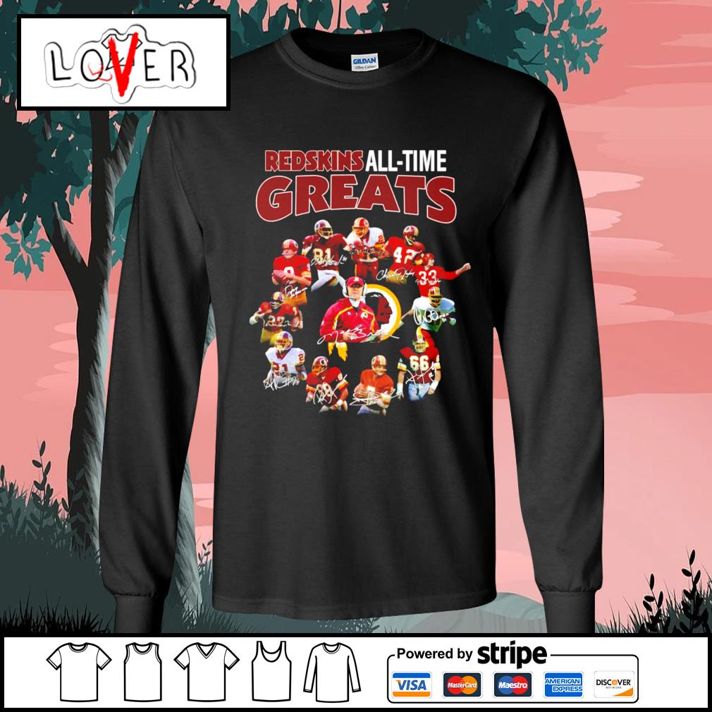 Washington Redskins all time greats signatures s Long-Sleeves-Tee