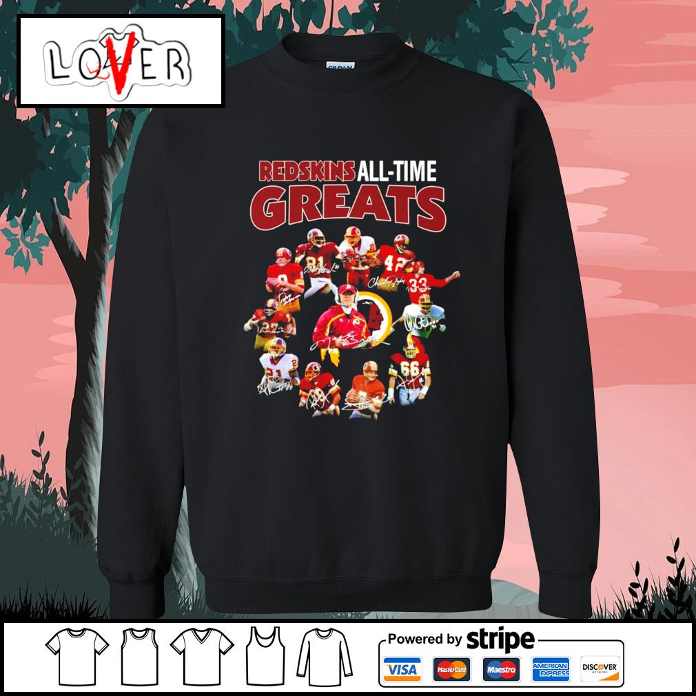 Washington Redskins all time greats signatures s Sweater