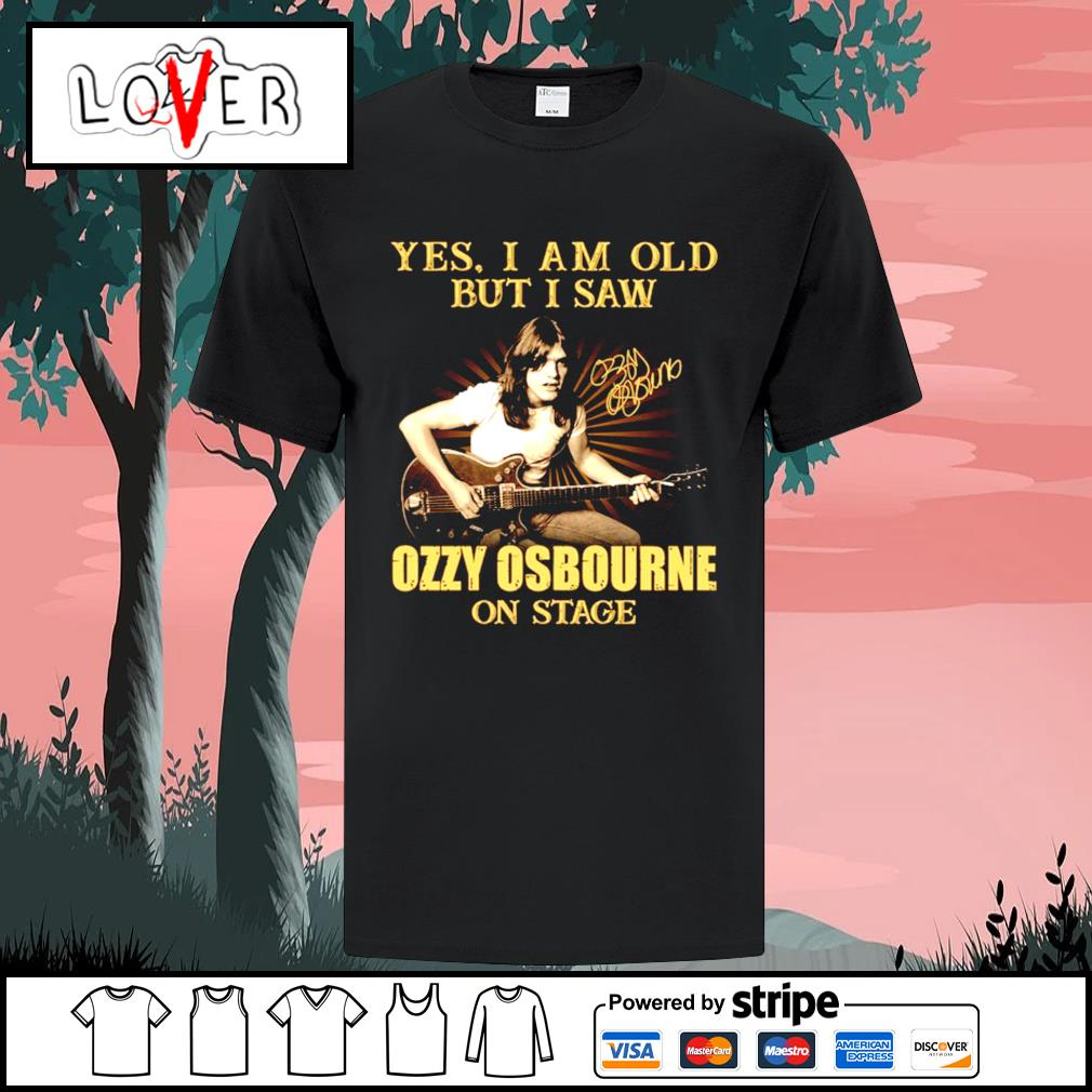 Yes I am old but I saw Ozzy Osbourne on stage signature shirt