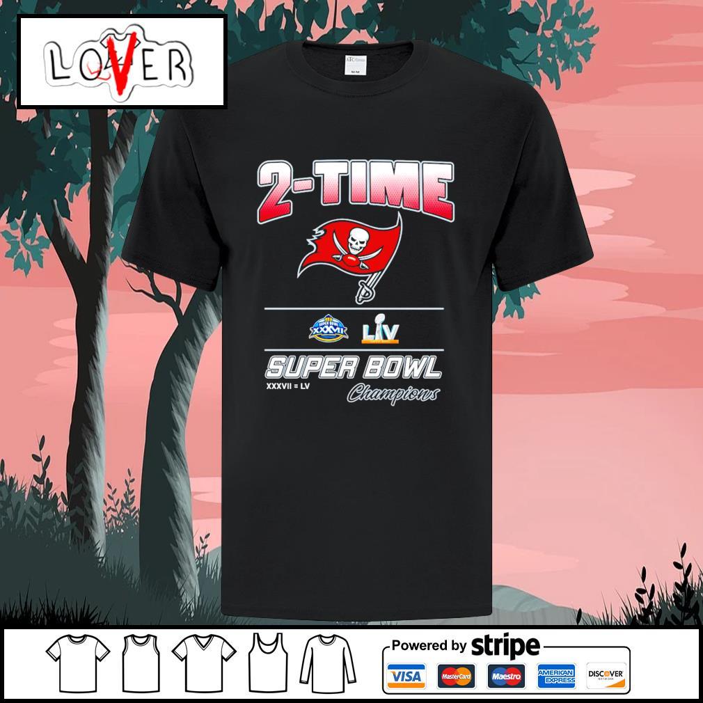 2-time Tampa Bay Buccaneers super bowl champions shirt