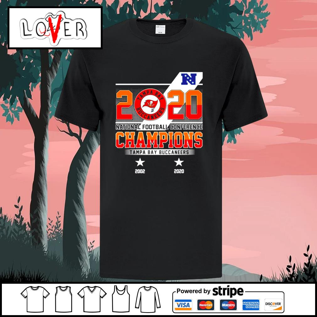 2020 national football conference champion Tampa Bay Buccaneers 2002-2020 shirt