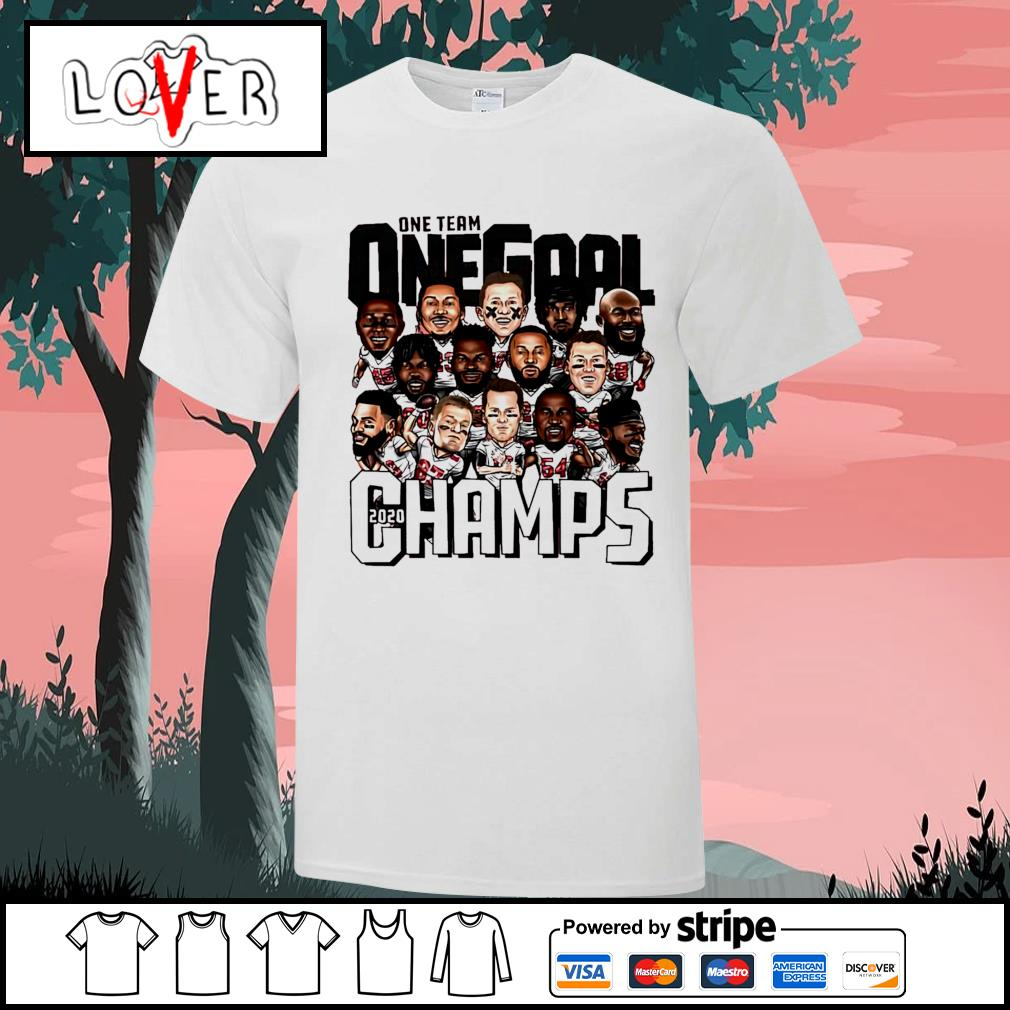 2020 Tampa Bay Buccaneers one team on Goal champs shirt