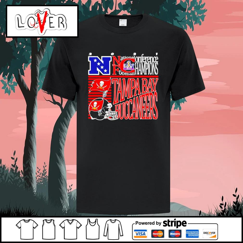 2021 NFC National conference football champions Tampa Bay Buccaneers shirt