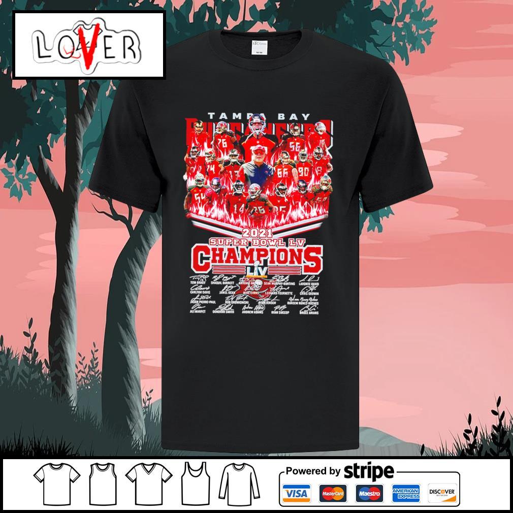2021 Tampa Bay Buccaneers super bowl LV champions signatures shirt
