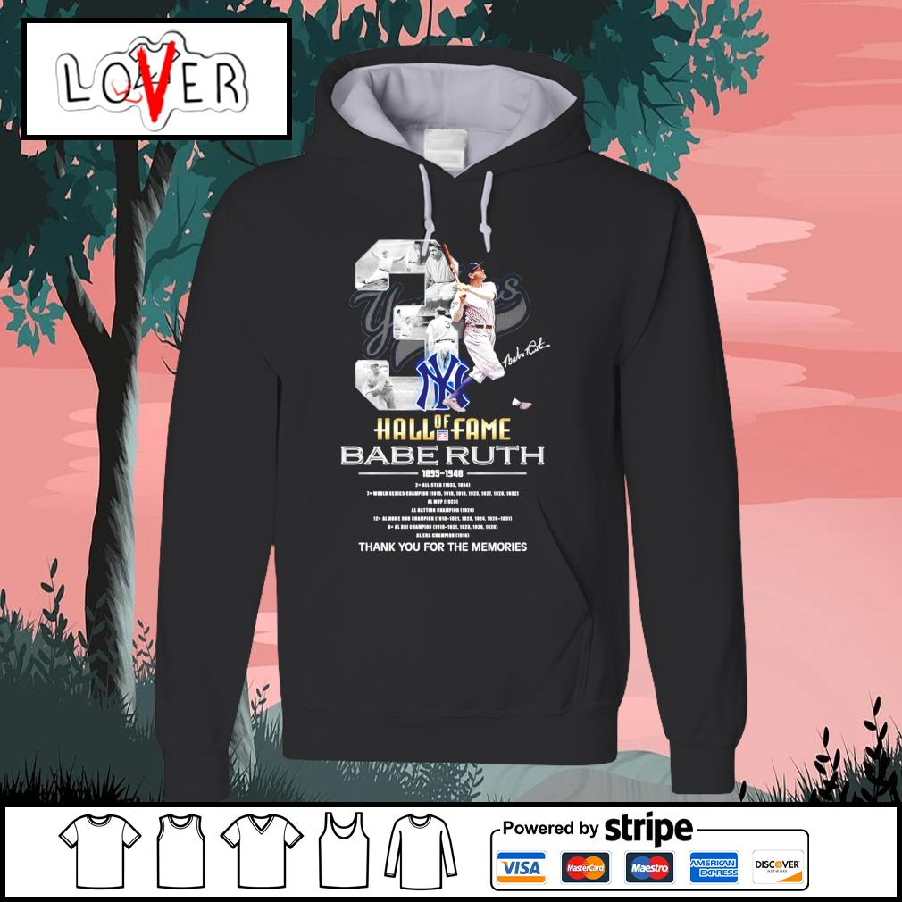 3 Hall of Fame Babe Ruth 1895 1948 thank you for the memories s Hoodie