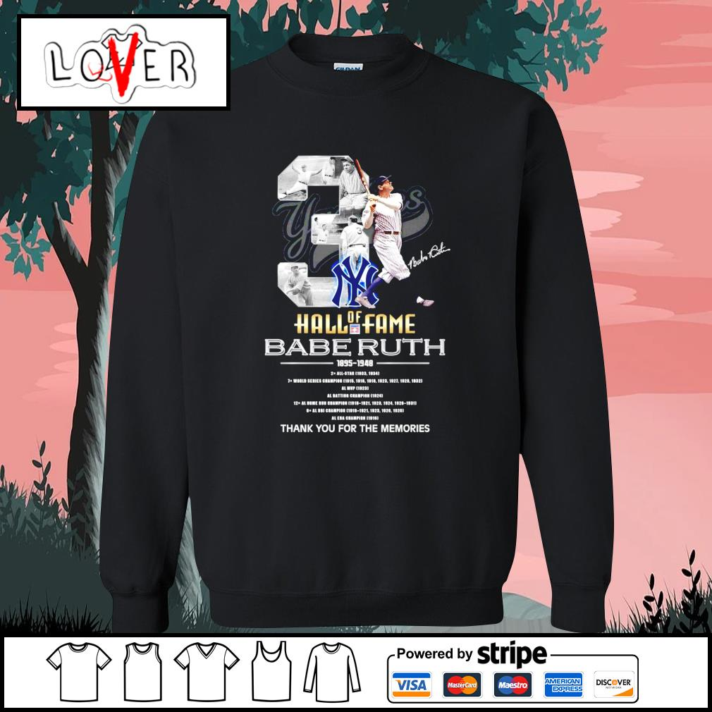 3 Hall of Fame Babe Ruth 1895 1948 thank you for the memories s Sweater