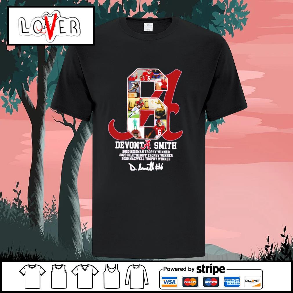 6 Devonta Smith Alabama Crimson Tide signature shirt