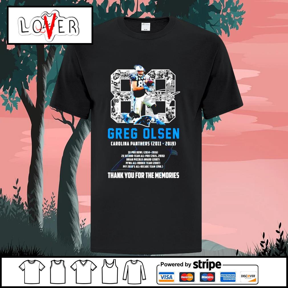 88 Greg Olsen Carolina Panthers thank you for the memories shirt