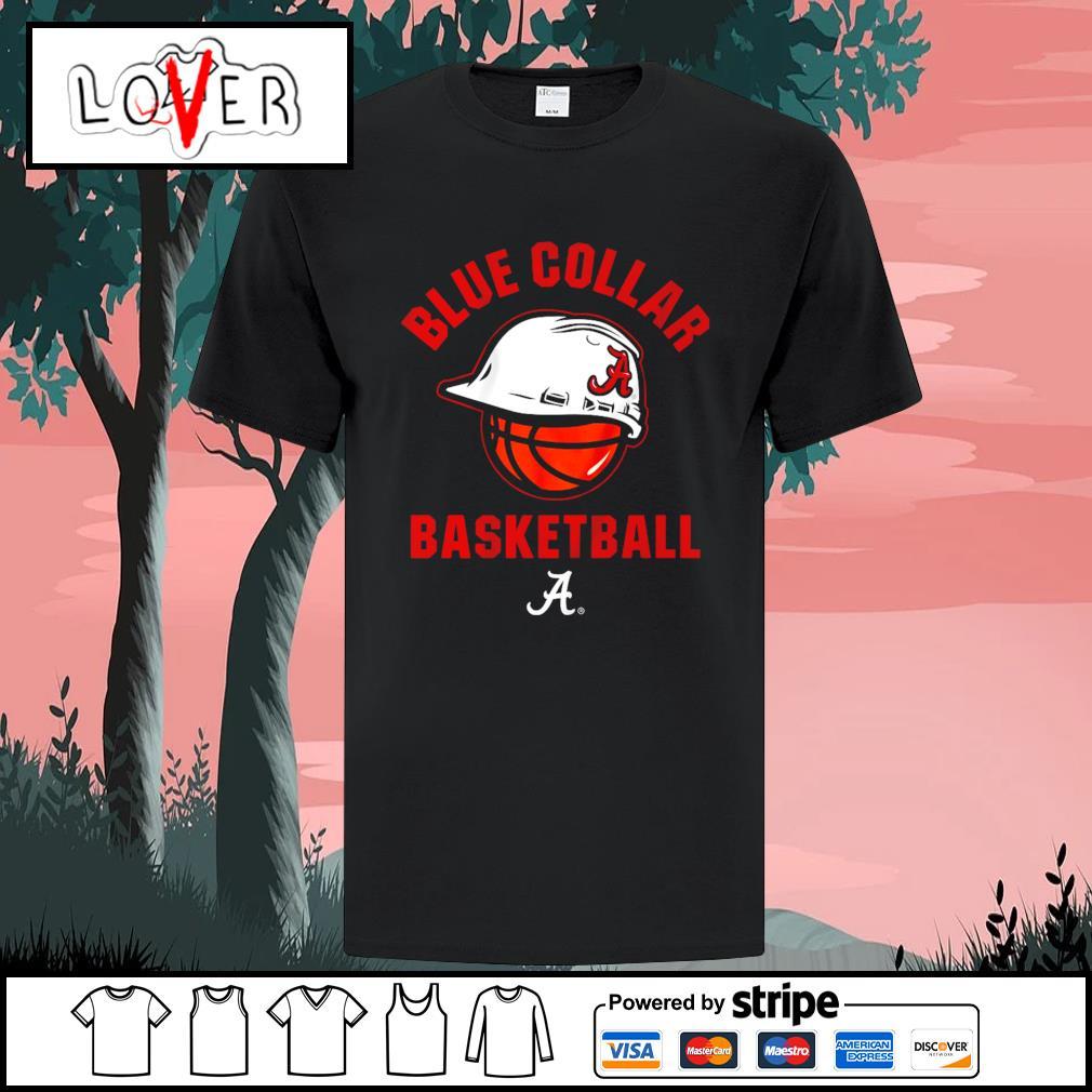 Alabama blue collar basketball shirt