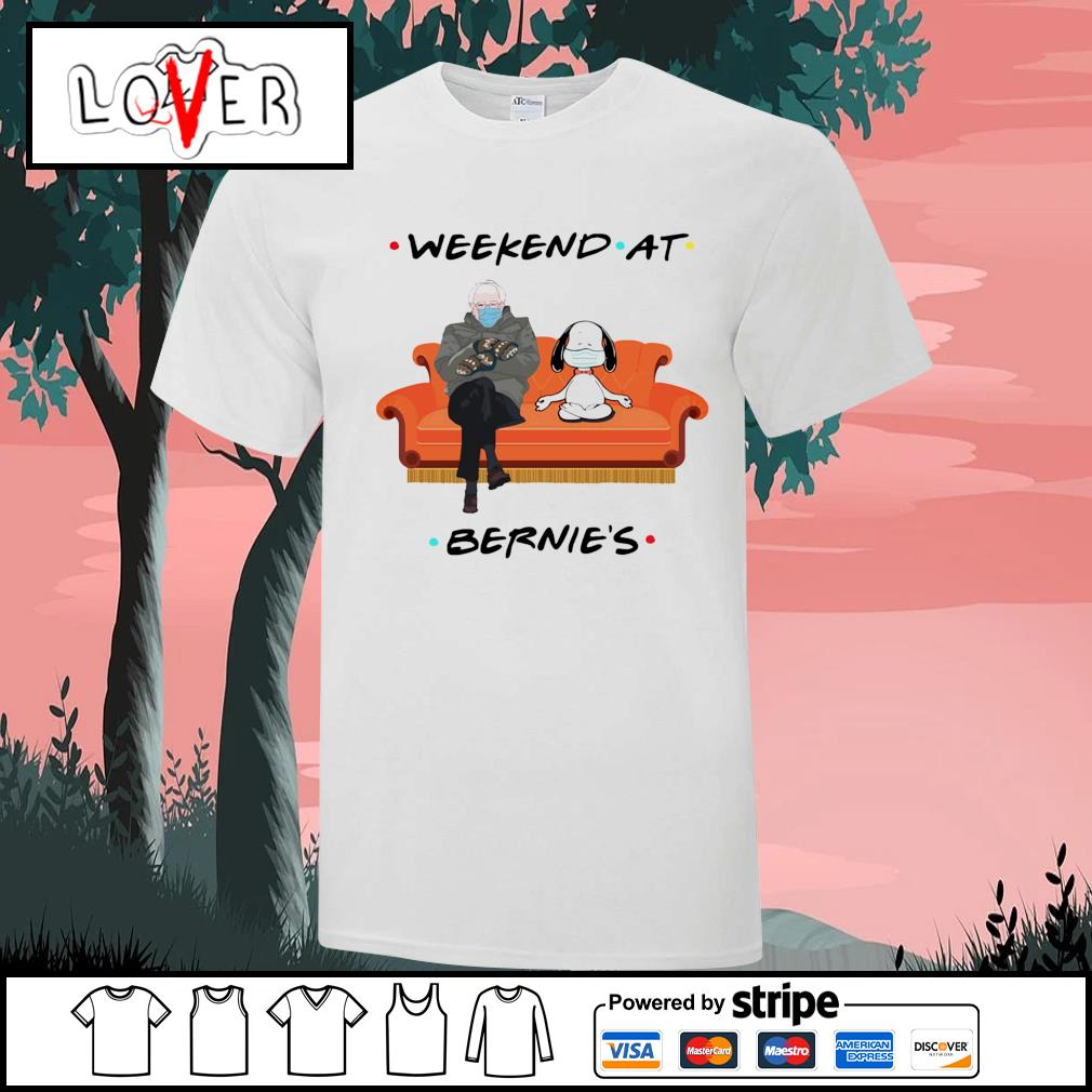 Bernie Sanders and Snoopy yoga weekend at Bernie's shirt