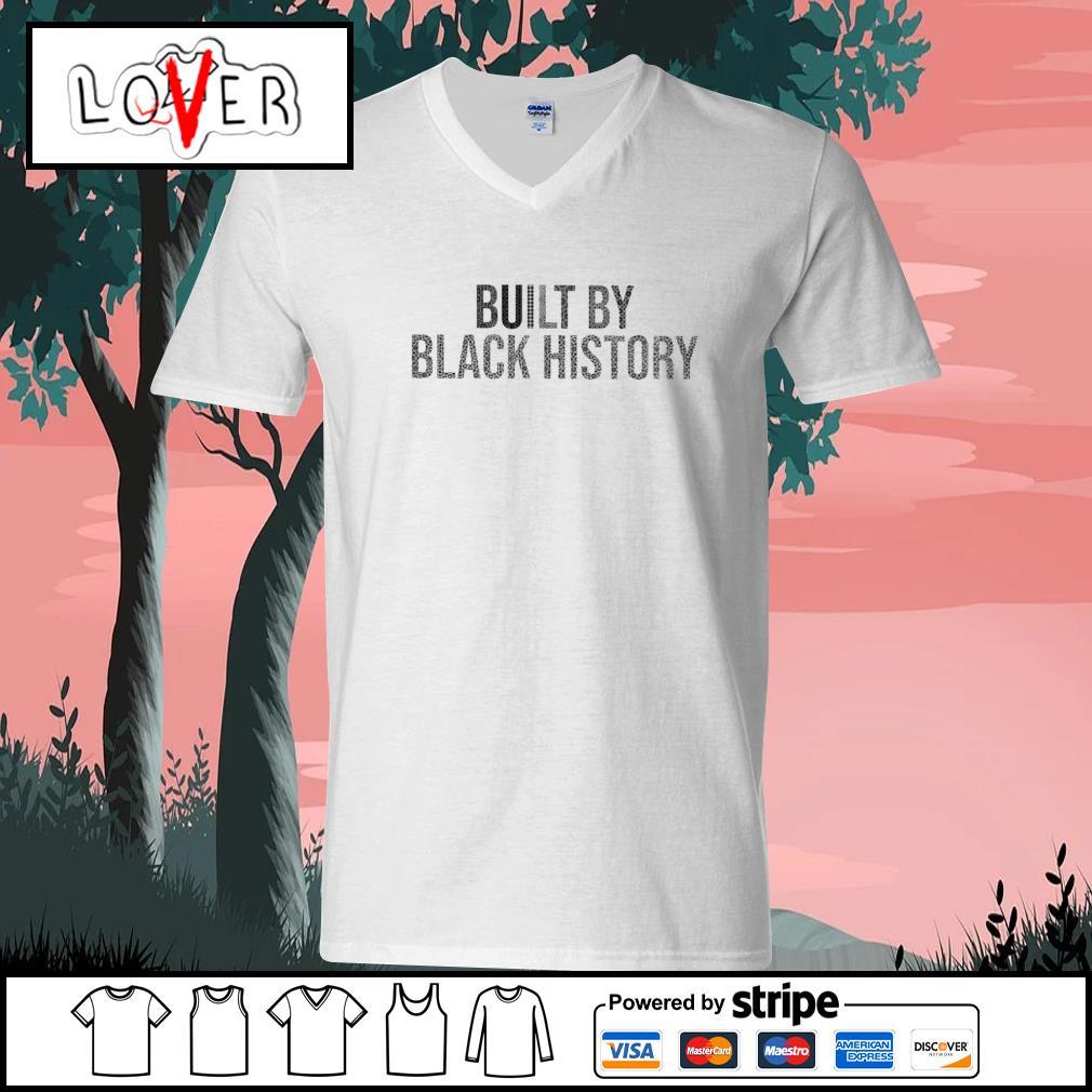 Built by black history s V-neck-T-shirt
