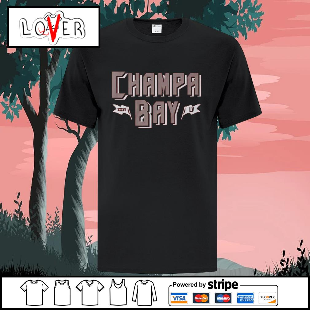 Champa bay football XXXVII LV Tampa Bay Buccaneers shirt