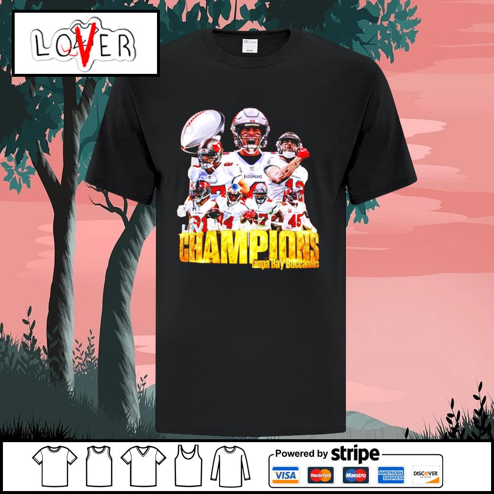 Champions Tampa Bay Buccaneers team shirt