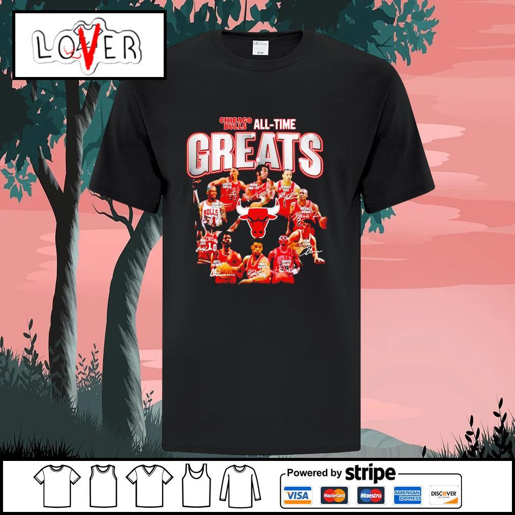 Chicago Bulls all time greats signatures shirt
