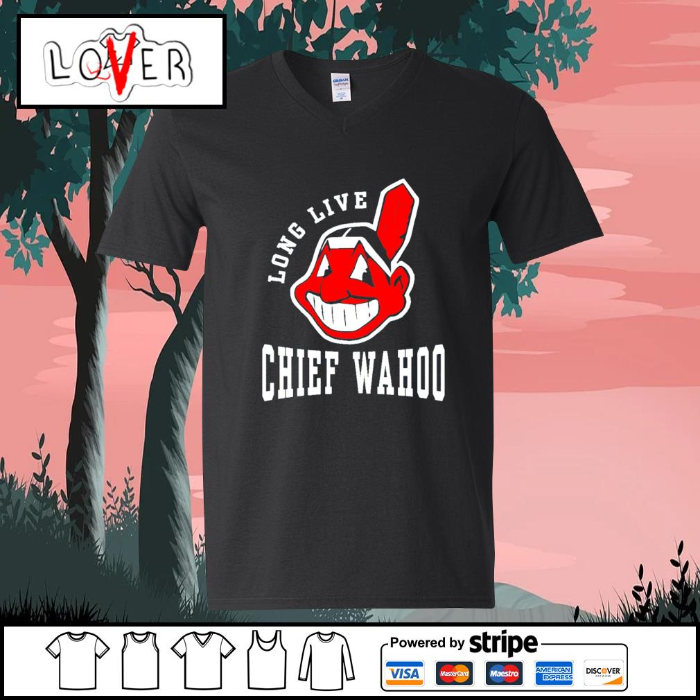 Cleveland indians long live Chief wahoo adult s V-neck-T-shirt