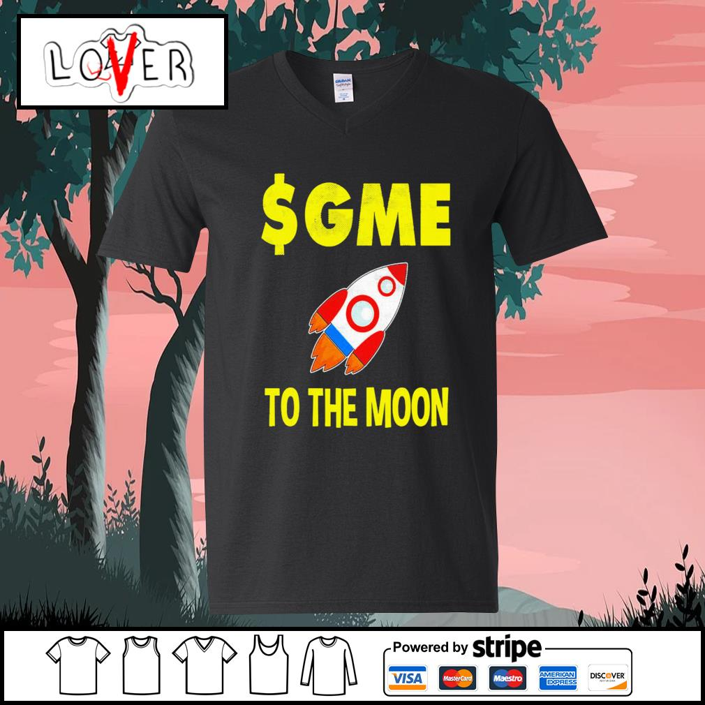 Gme to the moon ff gamestonk s V-neck-T-shirt