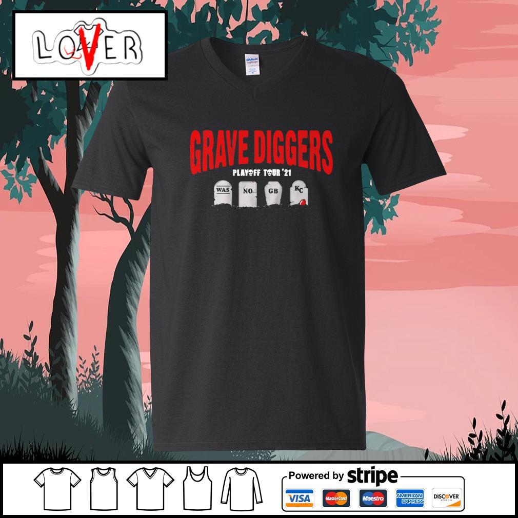 Grave Diggers playoff tour 2021 was no GB KC s V-neck-T-shirt