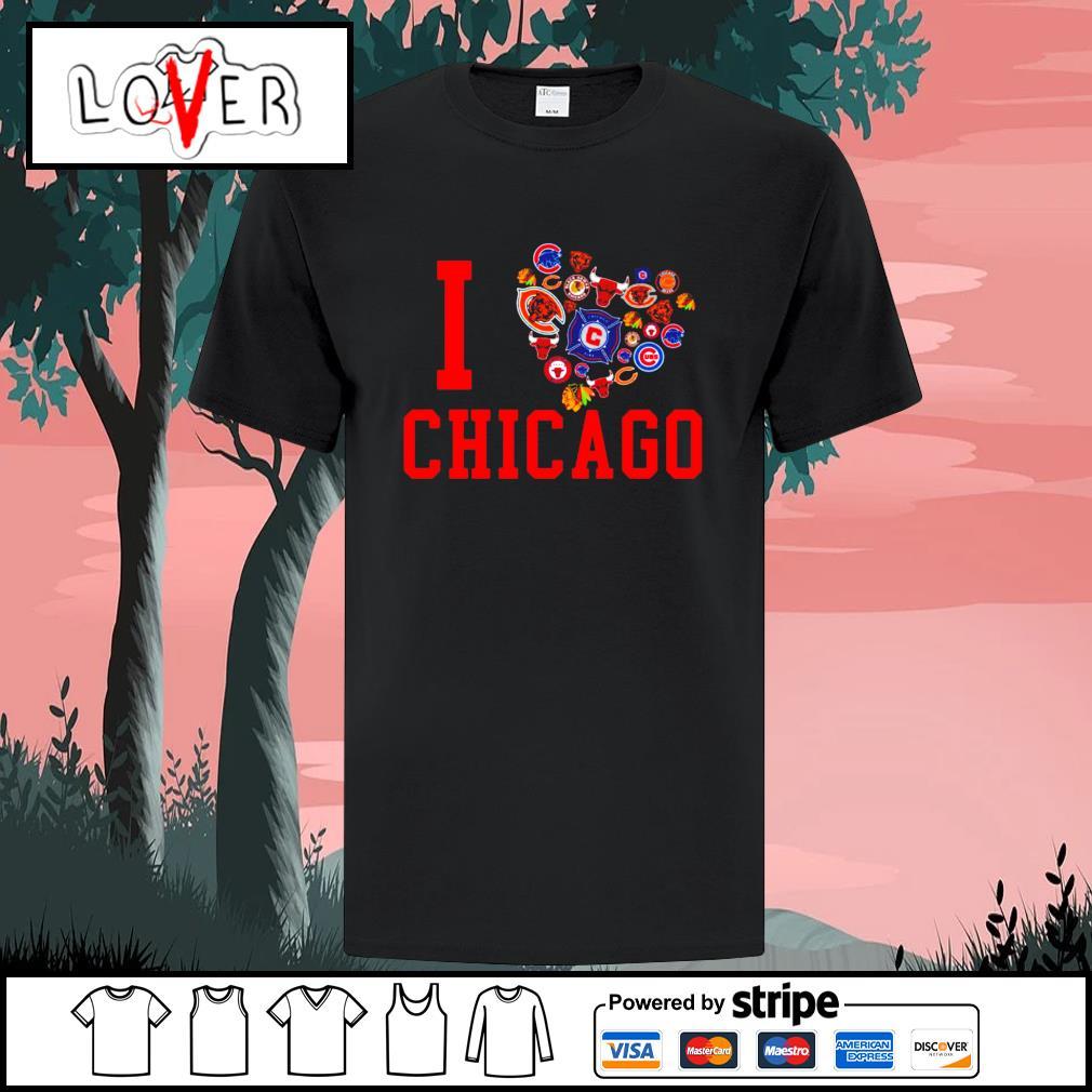 I love Chicago sport teams shirt