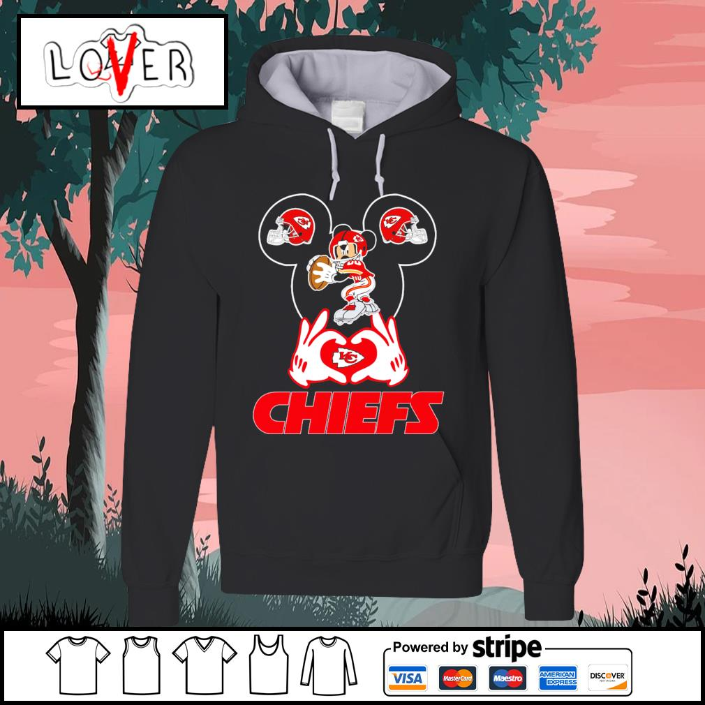 I love Mickey Mouse Kansas City Chiefs s Hoodie