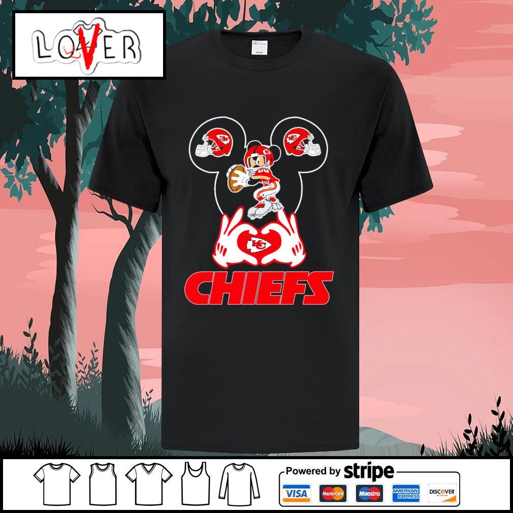 I love Mickey Mouse Kansas City Chiefs shirt