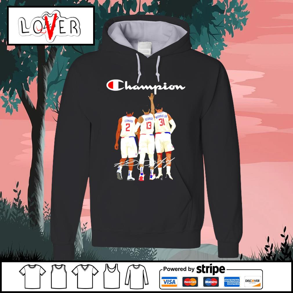 Los Angeles Clippers Leonard George and Morris Sr. champion signatures s Hoodie