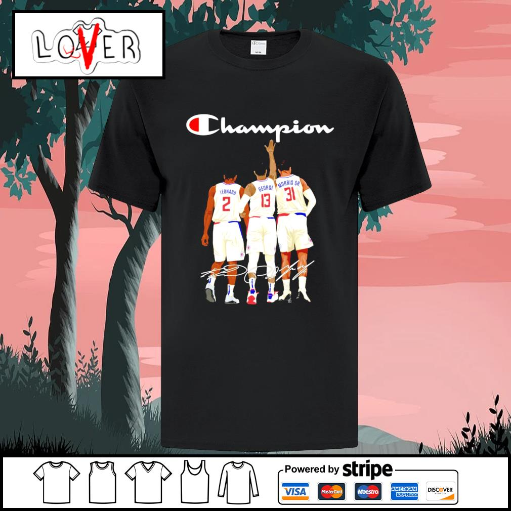 Los Angeles Clippers Leonard George and Morris Sr. champion signatures shirt