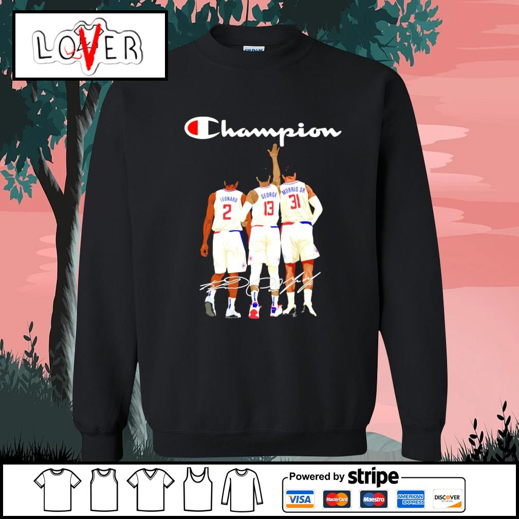 Los Angeles Clippers Leonard George and Morris Sr. champion signatures s Sweater