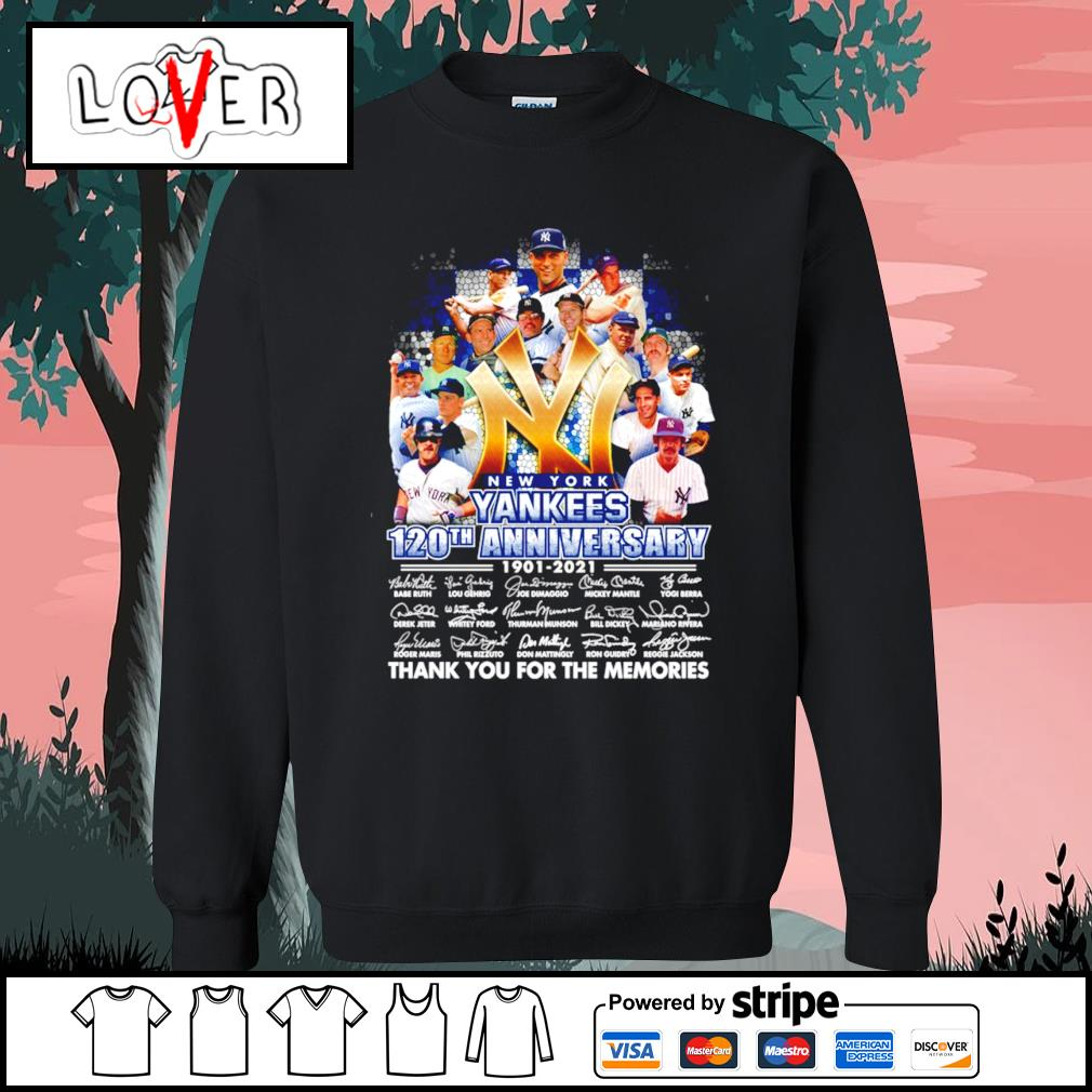 New York Yankees 120th anniversary 1901 2021 signatures s Sweater