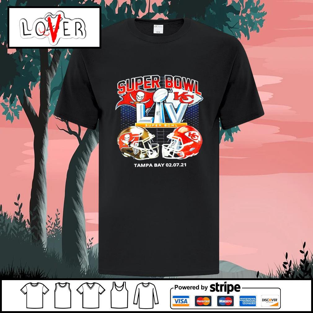 NFL Super Bowl Tampa Bay Buccaneers vs Kansas City Chiefs shirt