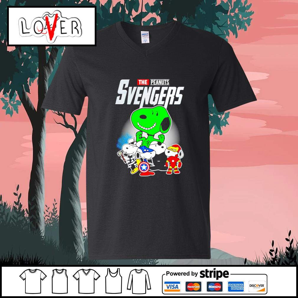 Snoopy the Peanuts Svengers Avengers s V-neck-T-shirt